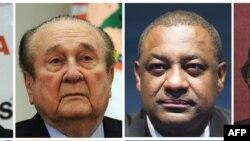 Nicolas Leoz (kiri) dan Jeffrey Webb, anggota komite eksekutif FIFA (Foto: dok).