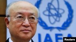 유엔 산하 국제원자력기구, IAEA 아마노 유키야 사무총장이 15일 오스트리아 빈에서 열린 이사회에 참석했다.