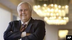 ທ່ານ Clive Palmer ສະມາຊິກຜູ້ແທນສະພາ ແລະມະຫາເສດຖີ ຊຖດບໍ່ແຮ່ ທີ່ເມືອງ Brisbane ປະເທດ Australia.