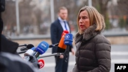 Federica Mogherini, jefa de política exterior de la Unión Europea dijo que el bloque vigilará de cerca el proceso electoral del 20 de mayo en Venezuela.