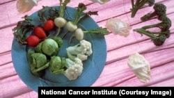 DIM compound is derived from cruciferous vegetables such as radishes, brussels sprouts, cauliflower and broccoli pictured here (National Cancer Institute)