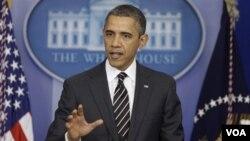 5일 백악관 기자회견장에서 바락 오바마 미국 대통령.