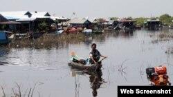 Khu tạm cư mới của ngư dân gốc Việt. Photo VOV.