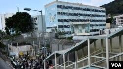 引發香港反送中運動的台灣殺人案疑犯陳同佳,在香港因洗黑錢等罪名被判入獄29個月, 他服刑的壁屋監獄外觀。(美國之音湯惠芸)