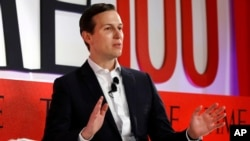 Jared Kushner, senior adviser to President Donald Trump, speaks during the TIME 100 Summit in New York, April 23, 2019.