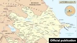 Azərbaycan Respublikasının xəritəsi