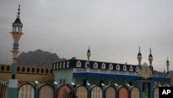 مسجدی در جوار اقامتگاه پیشین رهبر طالبان در شهر کندهار