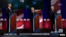 Debat keempat kandidat presiden AS dari Partai Demokrat, Minggu, 17 Januari 2016.