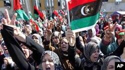 3月11日在班加西发生的反卡扎菲示威