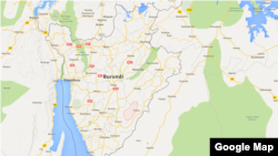 Musongati, dans le cerclue rouge, est situé dans la province de Rutana au Burundi.