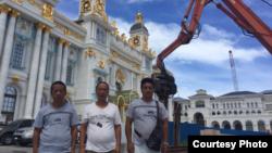 塞班島中國工人舉行抗議活動