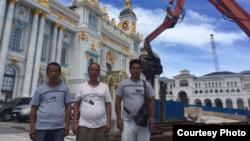 塞班岛中国工人举行抗议活动
