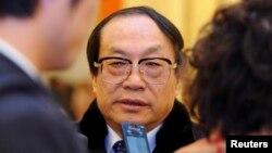 Cựu Bộ trưởng Ðường sắt Trung Quốc Lưu Chí Quân.