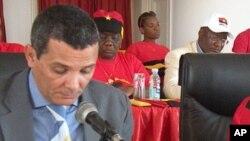 Rui Falcão, porta-voz do MPLA, no Namibe
