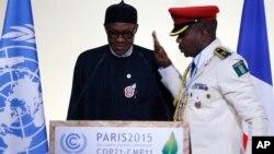 Shugaban Najeriya Muhammad Buhari a wurin taron koli kan sayin yanayi da aka yi a Paris kasar Faransa