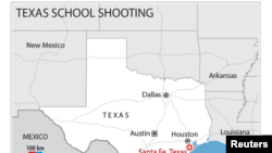 Ramani ya eneo la shambulizi huko Texas.