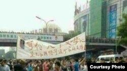 北京发生大规模群体事件 当局出动武警和直升机