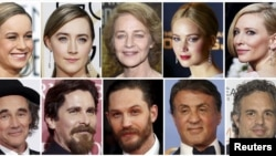 A combination picture shows some of this years Oscar nominees. In January, Director Spike Lee and actress Jada Pinkett Smith said they will boycott next month's Academy Awards ceremony because black actors were shut out of nominations.