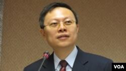 台灣陸委會主委王郁琦( 美国之音 張永泰拍摄 )