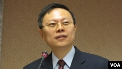 台灣陸委會主委 王郁琦( 美國之音 張永泰拍攝 )