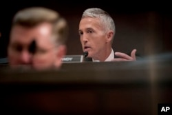 FILE - Rep. Trey Gowdy, R-S.C., is seen on Capitol Hill in Washington, June 21, 2017.