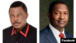 Gwamna Obiano (hagu) Abubakar Malami (dama) (Facebook/Malami/Obiano)