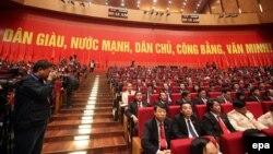 Các đại biểu tham dự lễ khai mạc Đại hội Đảng Cộng sản Việt Nam XII ở Hà Nội, 21/1/2016.