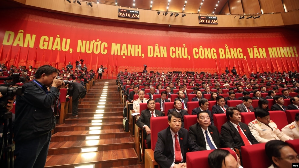 Đại hội Đảng Cộng sản Việt Nam lần thứ 12, ngày 21/1/16. (Ảnh tư liệu)