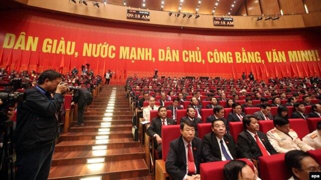 Ảnh minh họa: Các đại biểu tham dự lễ khai mạc Đại hội đảng 12 tại Hà Nội, ngày 21 tháng 1, 2016.