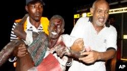 Wani cikin wadanda suka jika a harin na Somalia