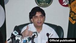 پاکستان کے وزیر داخلہ چودھری نثار