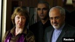 Катрін Ештон і міністр закордонних справ Ірану Джавад Заріф