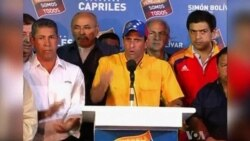 Capriles Calls Narrow Venezuelan Election Loss 'Illegitimate'
