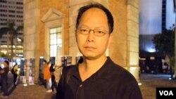 香港市民楊先生 (美國之音特約記者 湯惠芸拍攝 )