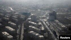 Thủ đô Kabul của Afghanistan từ một góc nhìn trên cao, ngày 11 tháng 2 năm 2016.