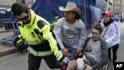 یکی از زخمی شدگان انفجار باستن