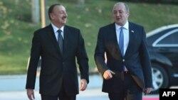 Gürcüstan prezidenti Giorgi Margelaşvili Azərbaycan prezidenti İlham Əliyevlə.