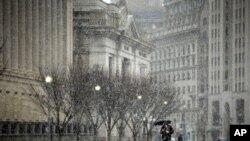 组图:雪暴袭击美国首都