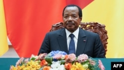 Le président camerounais Paul Biya à Beijing, Chine , le 22 mars 2018.