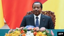 Le président camerounais Paul Biya à Beijing, Chine, le 22 mars 2018.