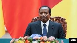 Le président camerounais Paul Biya à Pékin, Chine , le 22 mars 2018.