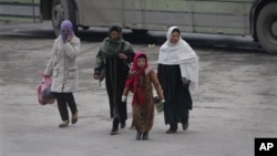 在阿富汗咯布爾的婦女(資料照片)