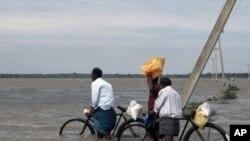 斯裡蘭卡發生洪災。
