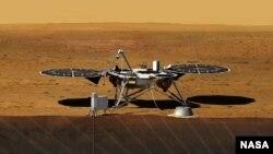 Dessin du futur InSight Lander de la NASA