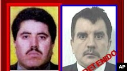 Vincente Carrillo Fuentes thủ lãnh băng đảng ma túy Juarez (trái)