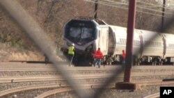 Một vụ tai nạn đường sắt ở Mỹ.