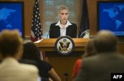 2015年6月19日,美国国务院官员在记者会上。
