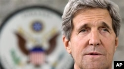 U.S. Secretary of State John Kerry makes a statement to the press regarding his meeting with Russian Foreign Minister Sergey Lavrov on subjects including Syria at the U.S. Embassy in Bandar Seri Begawan, Brunei Tuesday, July 2, 2013. Kerry said that both