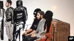 په عدالت کې د موجودو خبریالانو ترمخه، ٢٨ کلن عبدالسلام په مخ ږیره وه، سپین سویټر یې اغوستی و او عدالت ته د امنیتي عسکرو په بدرگه کې وړاندې کړی شو. د عسکرو مخونه پټ وو او تورې دریشۍ یې اغوستې وې