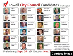 Twenty candidates entered the preliminary city council election, Sept. 26. Among them, four are Cambodian Americans and two made it onto the final ballot, Nov. 7, 2017. (Courtesy photo of Lowell Votes)